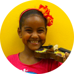Arts Youth Empowerment Vanessa Playing Violin