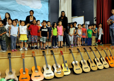 Camp Children With Their Guitars